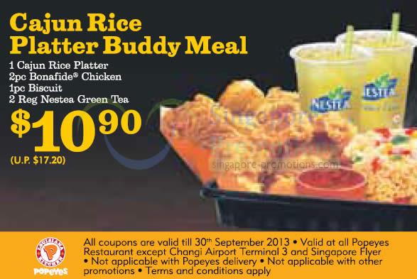 10.90 Cajun Rice Platter Buddy Meal