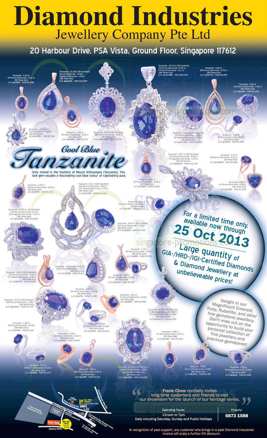 27 Sep Cool Blue Tanzanite, Certified Diamonds