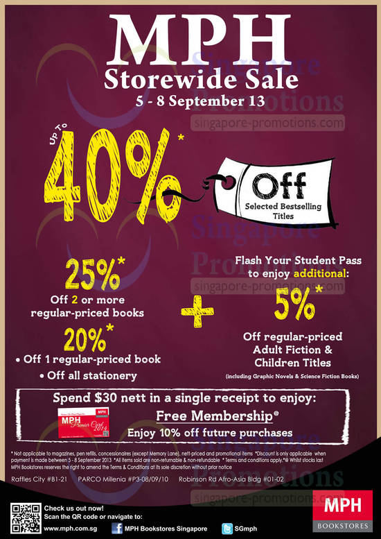 MPH Sale Details, Dates, Student Offers, Membership