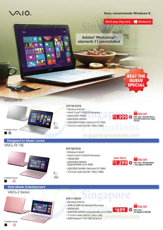 Notebooks Vaio Fit 15E, E Series, Fit 15