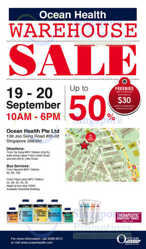 Featured image for Ocean Health Warehouse SALE Up To 50% Off 19 – 20 Sep 2013