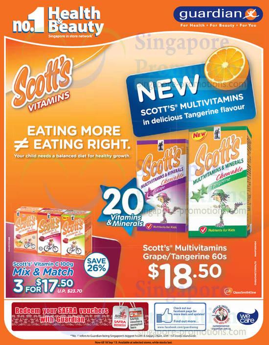 Scotts Vitamins Multivitamins Grape Tangerine