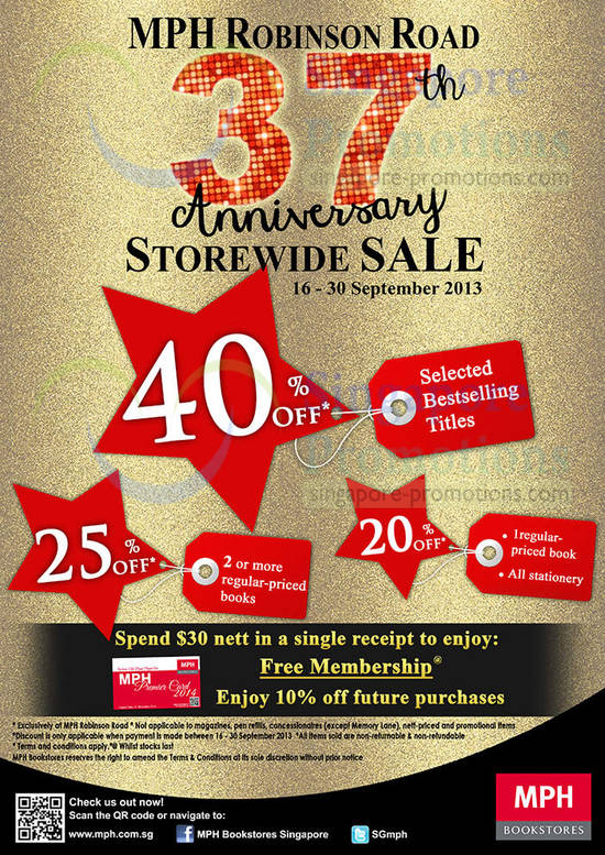 Storewide Sale, Stationery Offers, Free Membership