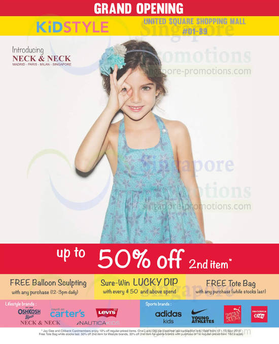 Up To 50 Percent Off 2nd Item, Activities, Brands