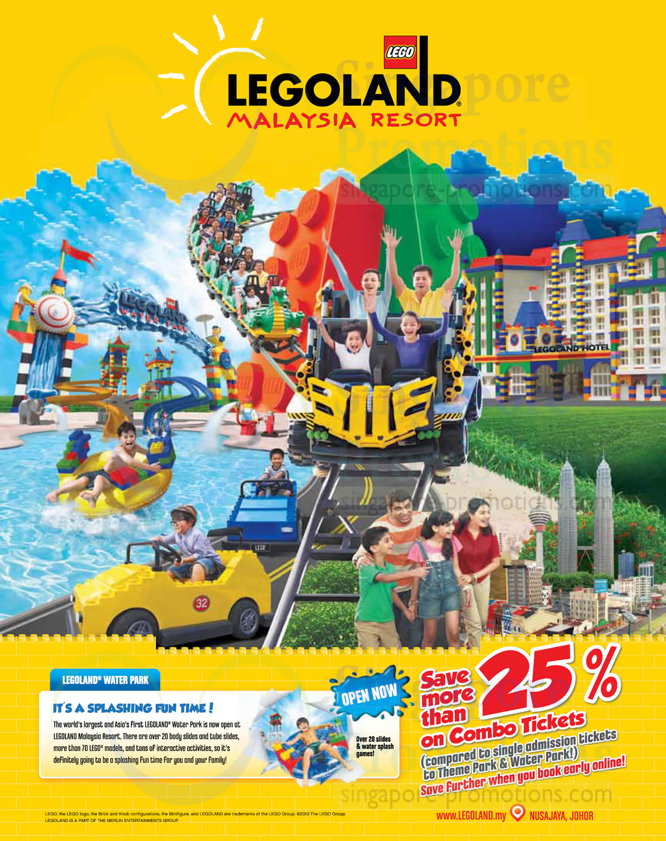 25 oct 25 percent off combo tickets promo legoland water park opening promotion offers 20 oct. Black Bedroom Furniture Sets. Home Design Ideas