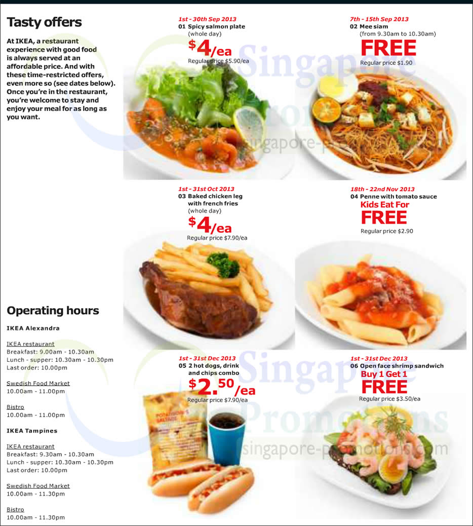 Ikea restaurants baked chicken leg with french fries promo for Ikea restaurant discount