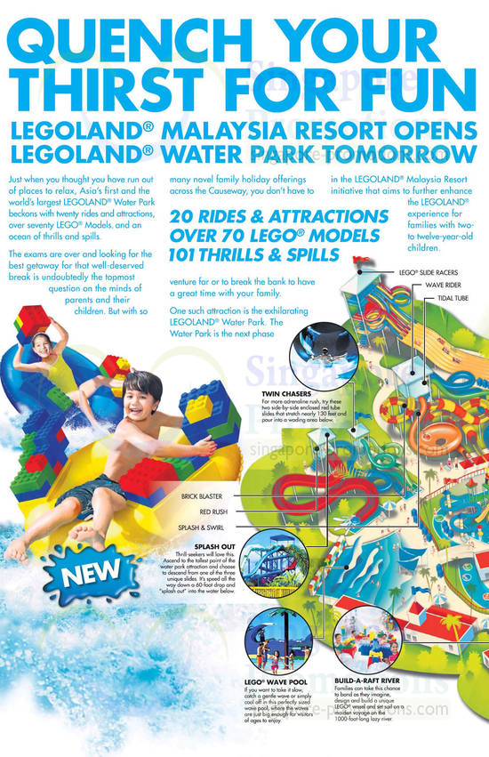 Water Park Rides, Splash Out, Twin Chasers, Wave Pool