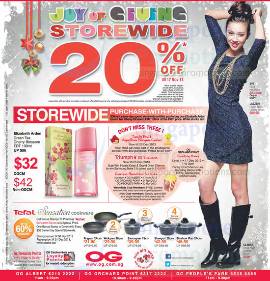 20 Percent Off Storewide, Purchase with Purchase, Tefal