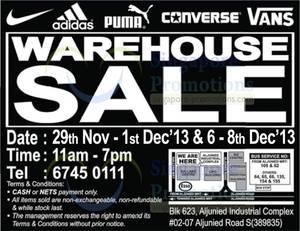 Featured image for Branded Sports Warehouse SALE @ Aljunied (Fri-Sun) 29 Nov – 8 Dec 2013