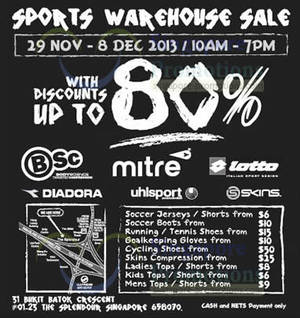 1cde9bb1c1 Branded Sports Up To 80% OFF Warehouse SALE   The Splendour 29 Nov – 8 Dec  2013