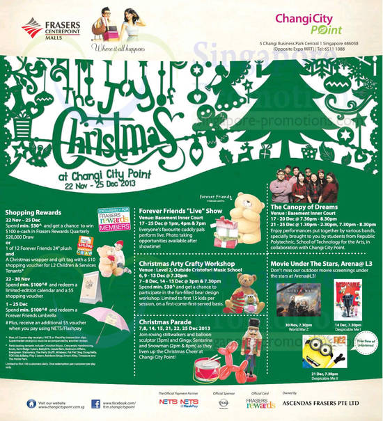 Changi City Point Christmas Promotions