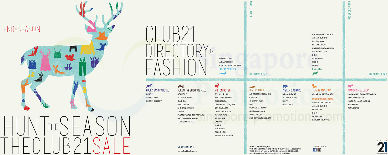 Club 21 End of Season Participating Stores