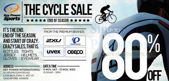 Cycle Sale Details, Dates, Time, Venue, Items