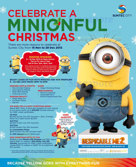 Despicable Me 2 Minions Invasion, Games, Activities, Lucky Draw, Christmas Gifts