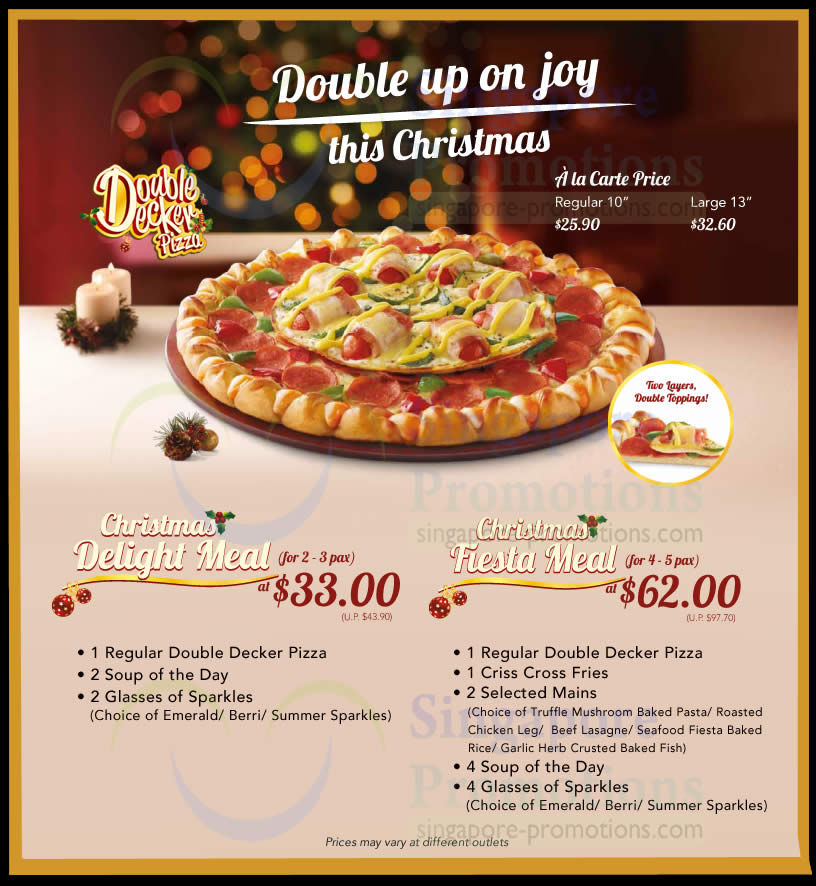 Pizza Hut NEW Double Decker Pizza 21 Nov 2013 : Double Decker Dine In Combos from singpromos.com size 816 x 886 jpeg 123kB