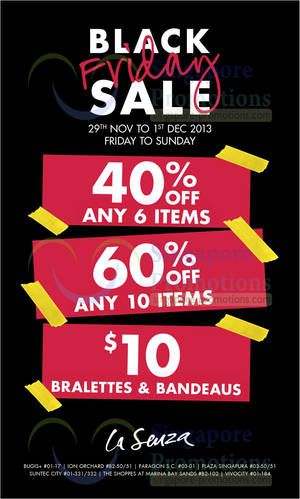 1e40683ccbedb La Senza Up to 60% OFF Black Friday SALE 29 Nov – 1 Dec 2013