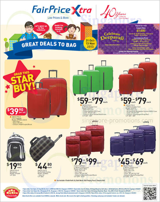 Luggage Bags Swiss Polo, Hush Puppies