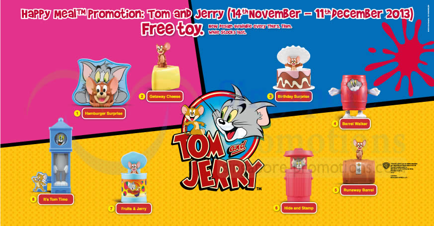 McDonald's FREE Tom & Jerry Toy With Happy Meal 14 Nov – 11 Dec 2013