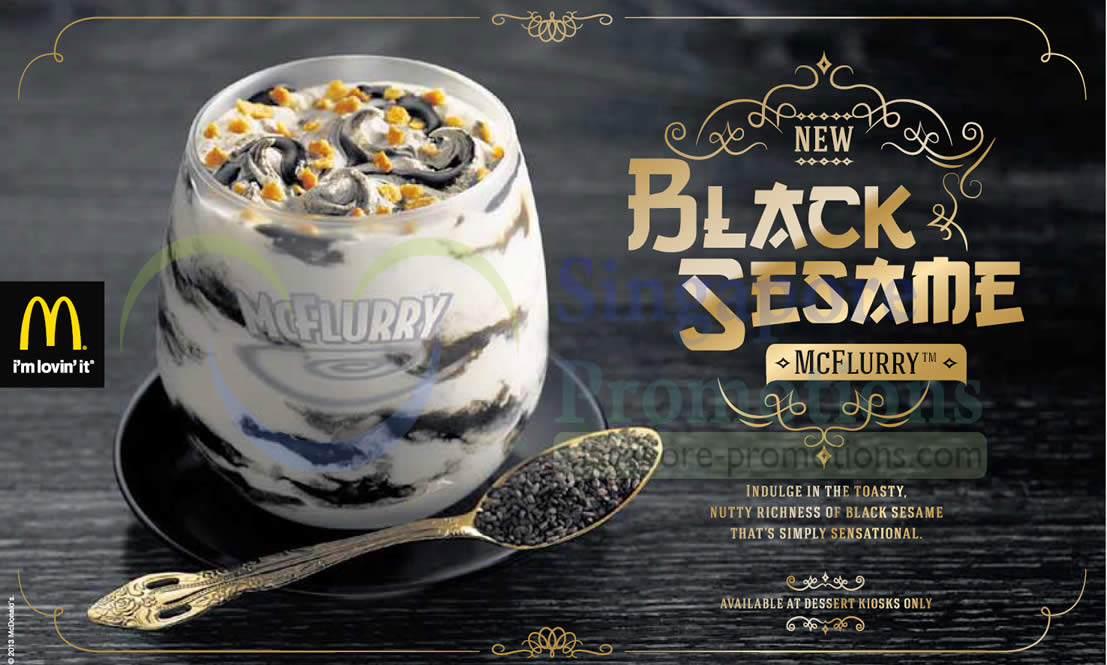 Mcdonald S New Black Sesame Mcflurry Dessert Kiosks 7