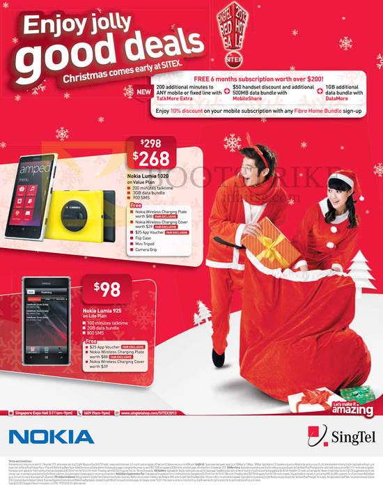 Nokia Lumia 1020, Nokia Lumia 925, Free 6 Months