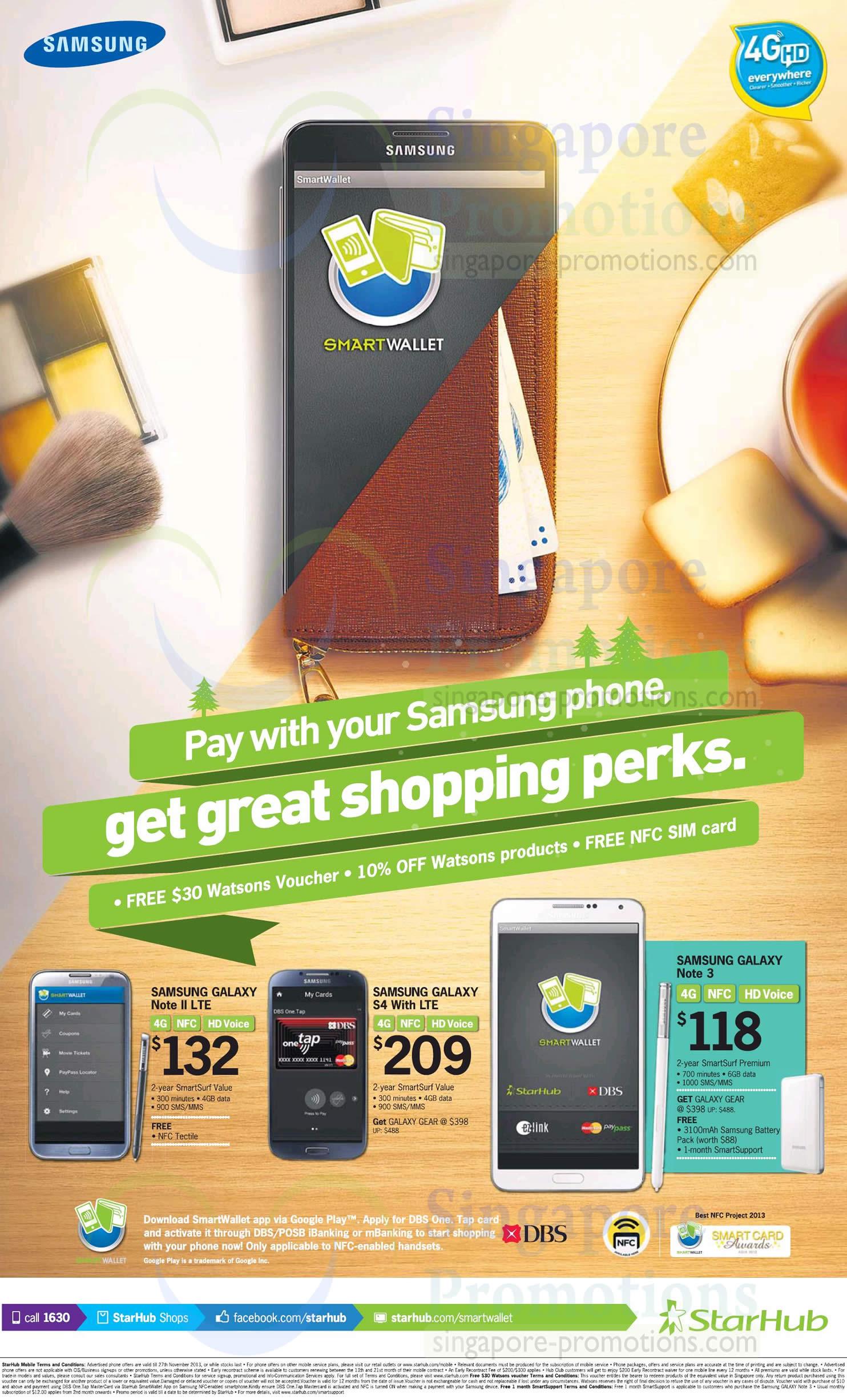 Samsung Galaxy Note II LTE, S4, Note 3