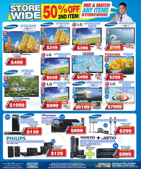 Samsung UA46EH5306 TV, Samsung UA60EH6000 TV, Samsung UA40EH5306 TV, LG 47LX6500 TV, LG 55LX6500 TV, LG 42LX6500 TV, Samsung UA55F9000 TV, Samsung UA46D6000 TV, LG 65LA9650 TV, Samsung HW-E450 Speaker and Pioneer SC-LX75 AV Receiver