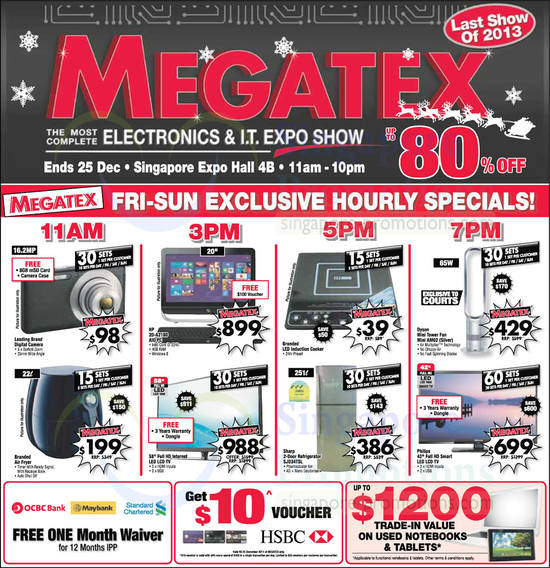 20 Dec Weekend Hourly Specials, HP 20-A218D AIO Desktop PC, Dyson AM02 Fan, Sharp SJD34TSL Fridge