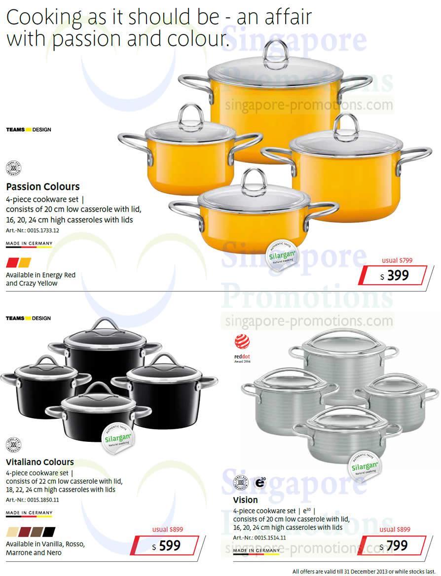 Cookware Set Passion Colours, Vitaliano, Vision
