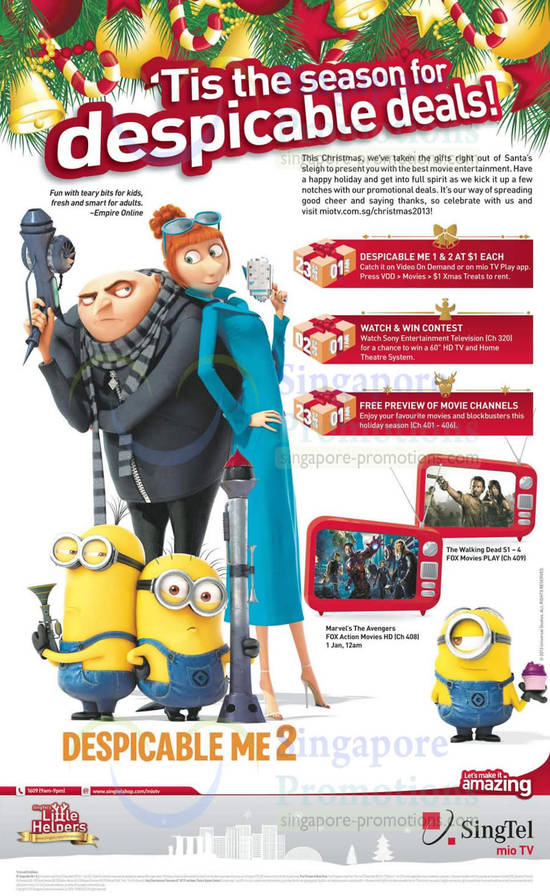 Despicable Me 2 Movies, Contest, Free Previews