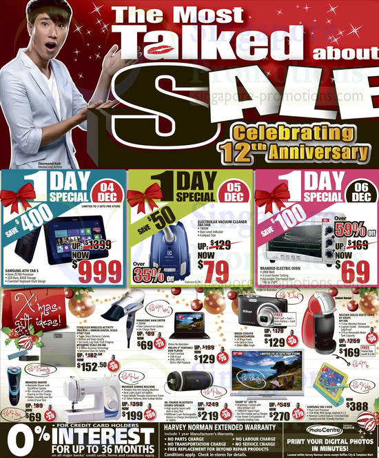 Samsung ATIV Tab 5 Notebook, Electrolux ZBA-3408 Vacuum Cleaner, Nescafe KP1500 Coffee Maker and Samsung Galaxy Tab 3 Kids 7.0