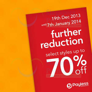 Payless Shoesource Up To 70% OFF SALE Further Reductions 19 Dec 2013 – 7 Jan  2014 e0684f039f03c