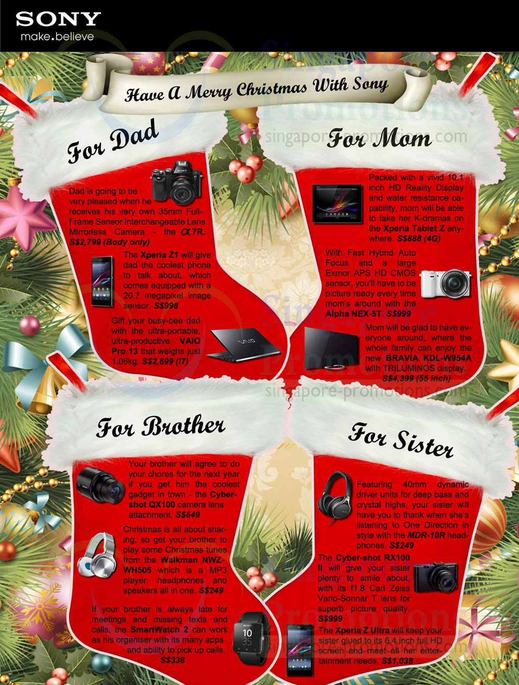 Sony family christmas gift ideas 9 dec 2013 negle Image collections