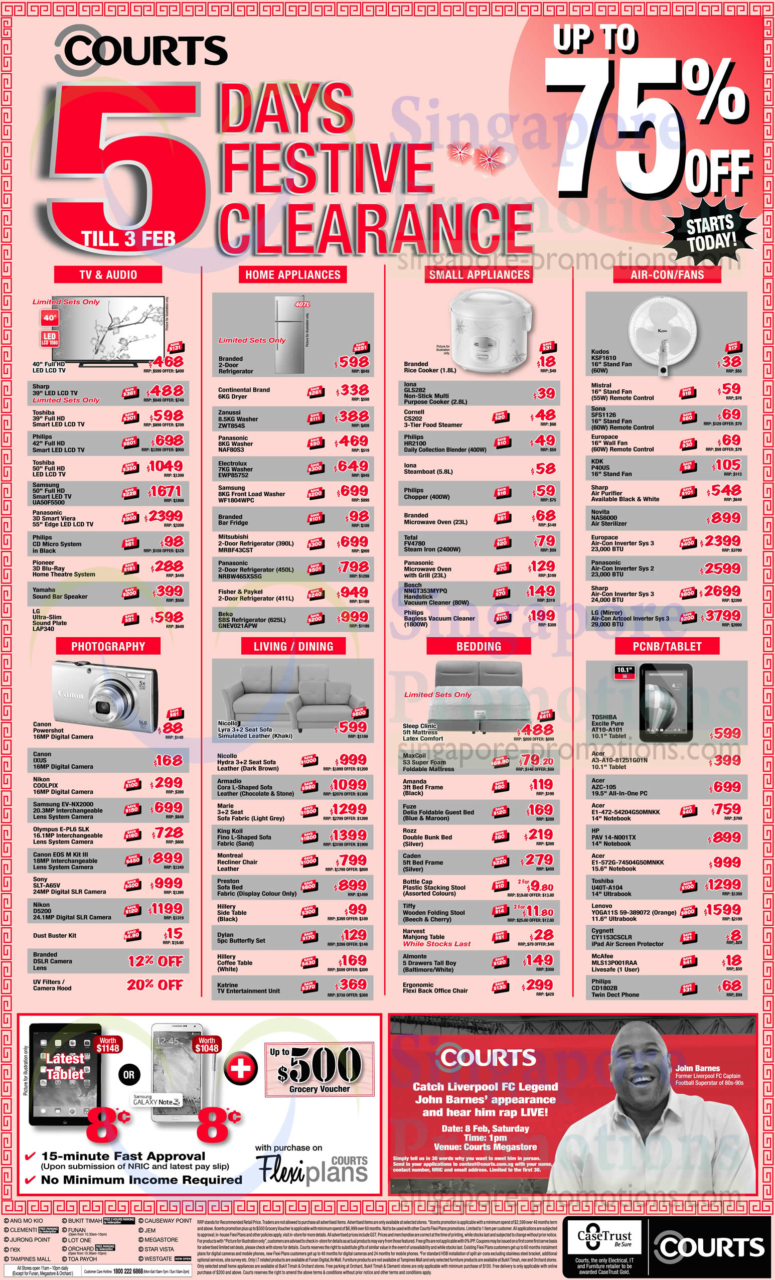 5 Days Festive Clearance Offers 187 Courts Cny 2014 Opening