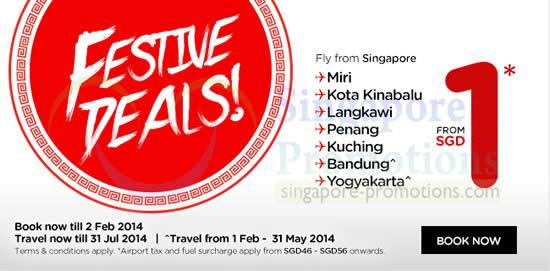 Air Asia 1 Air Fares Promo 27 Jan 2 Feb 2014
