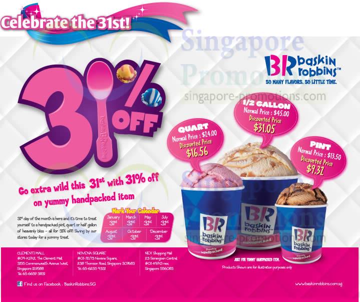 Baskin-Robbins 31 Jan 2014