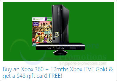 Microsoft Xbox 360 Console & Games FREE Up To $48 Gift Card Promo 25