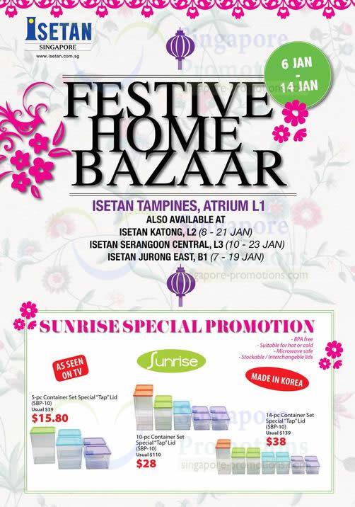 Festive Home Bazaar, Sunrise Special Promotion