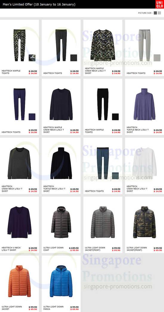 Mens Heattech Tights, Shirts, Jackets, Parka