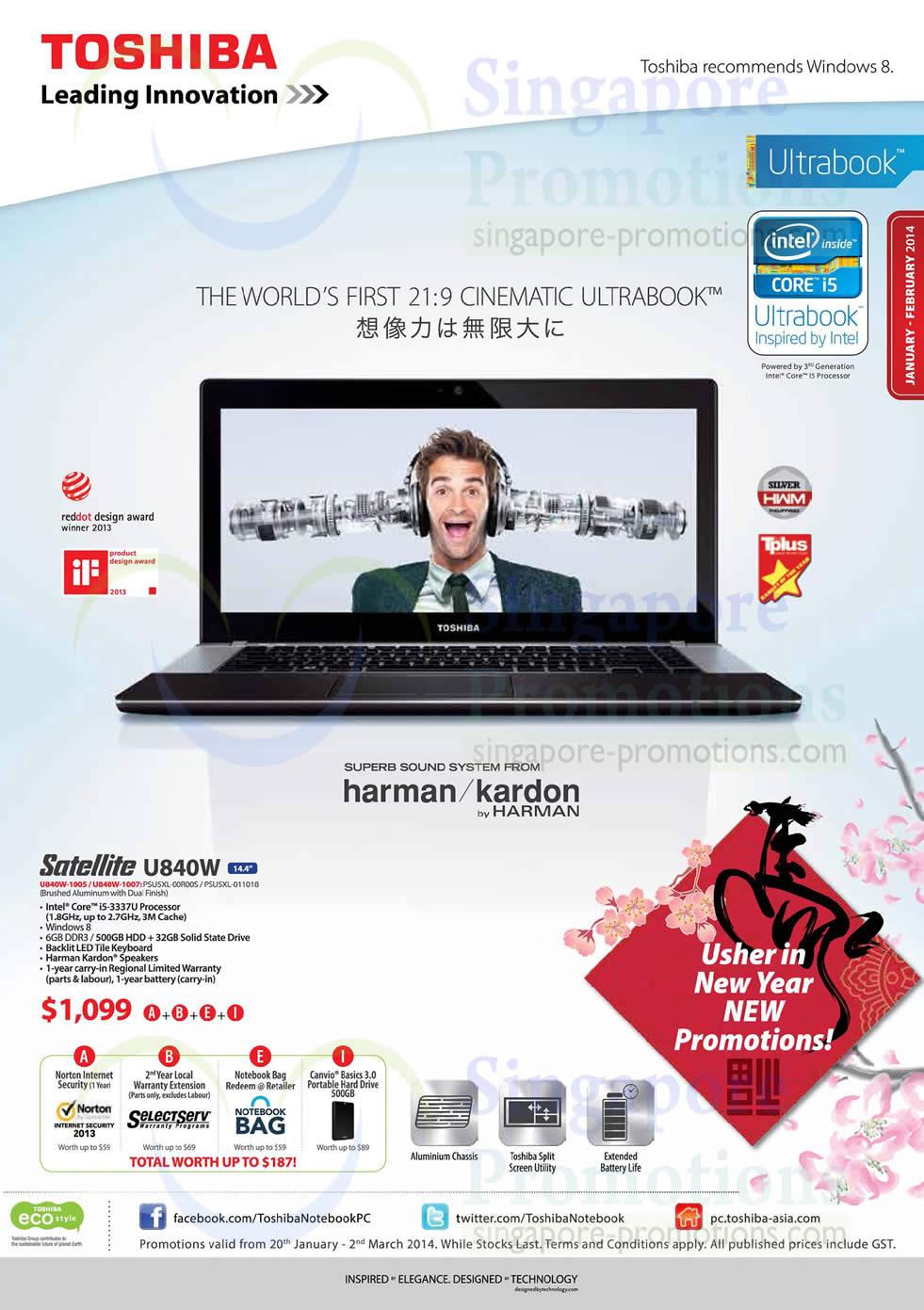 Toshiba Notebooks & Tablets Promotion Offers 20 Jan – 2 Mar 2014