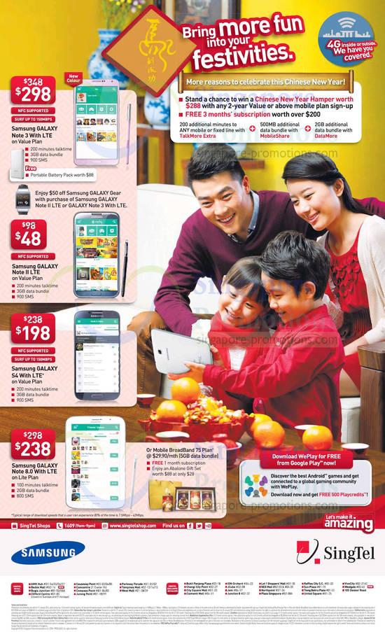 Samsung Galaxy Note 3, Samsung Galaxy Note II LTE, Samsung Galaxy S4 with LTE Plus, Samsung Galaxy Note 8.0