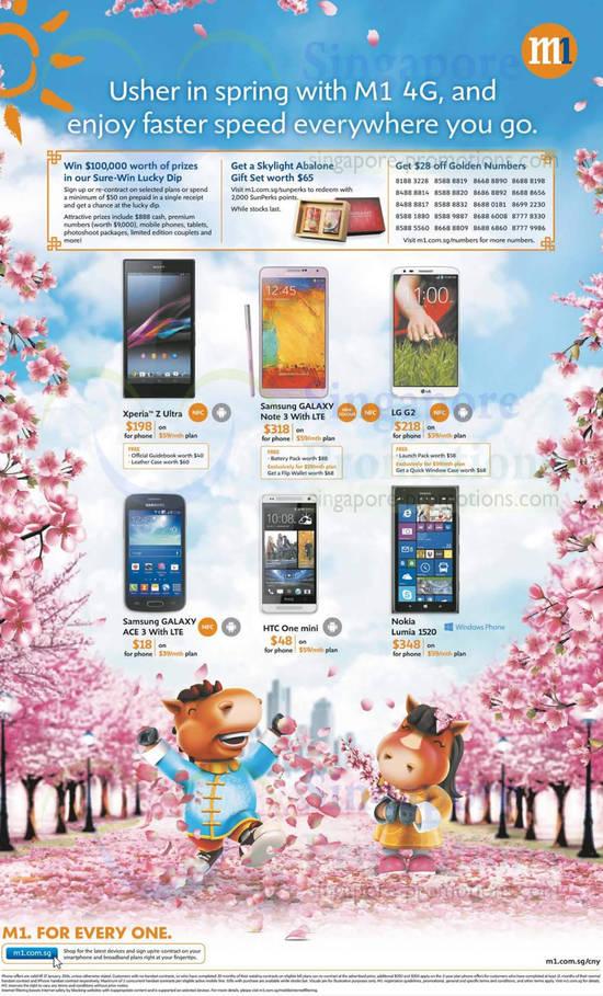 Sony Xperia Z Ultra, Samsung Galaxy Note 3, Samsung Galaxy Ace 3, HTC One Mini, LG G2, Nokia Lumia 1520