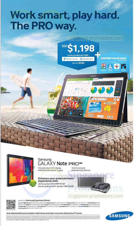 22 Feb Samsung Galaxy Note Pro LTE, Free Book Cover, Keyboard