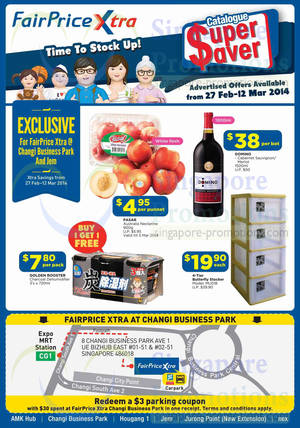 Featured image for NTUC Fairprice Electronics, Appliances, Groceries & Personal Care Offers 27 Feb – 12 Mar 2014