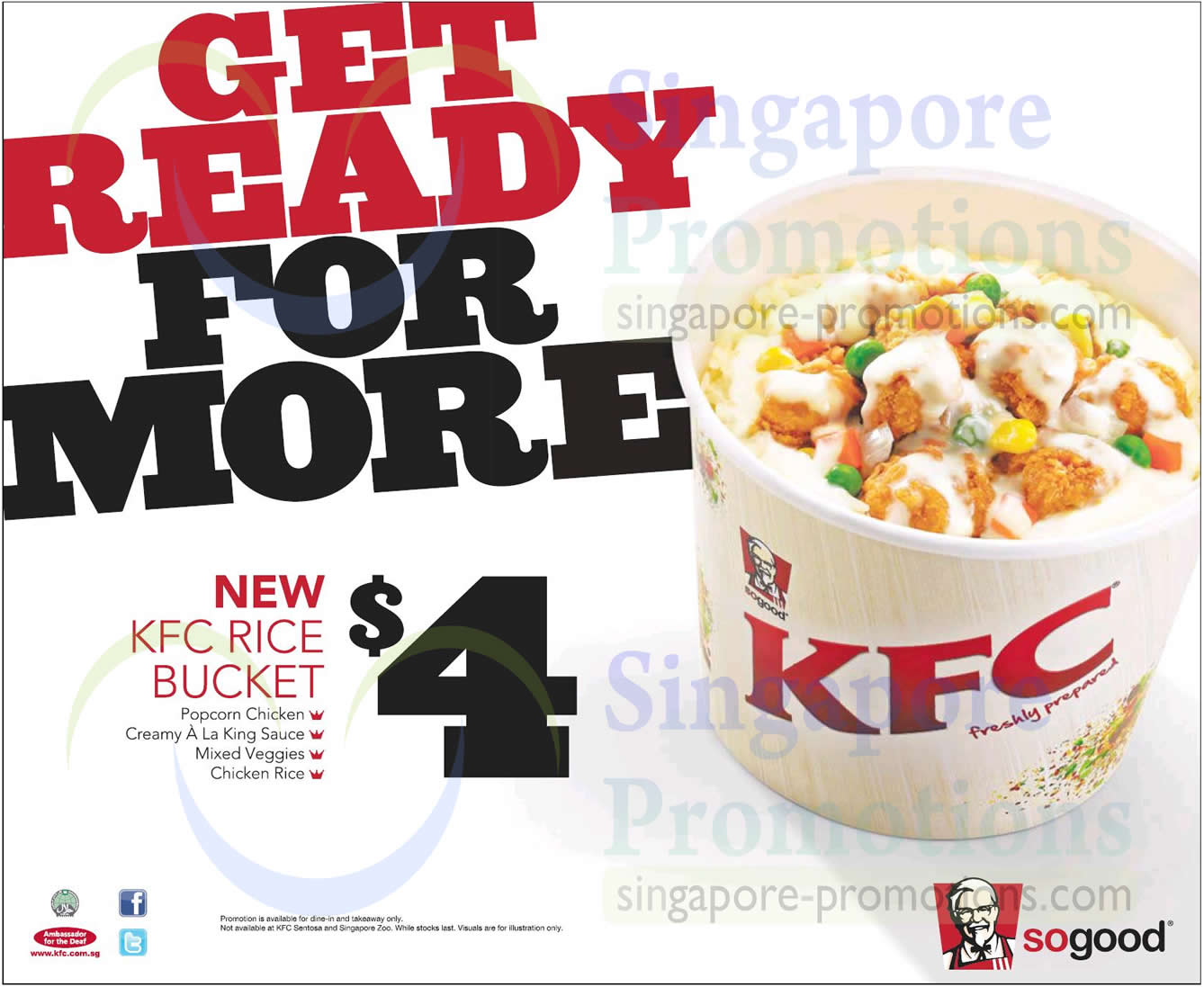 KFC NEW $4 Rice Bucket (Dine-In & Takeaway) 10 Feb 2014