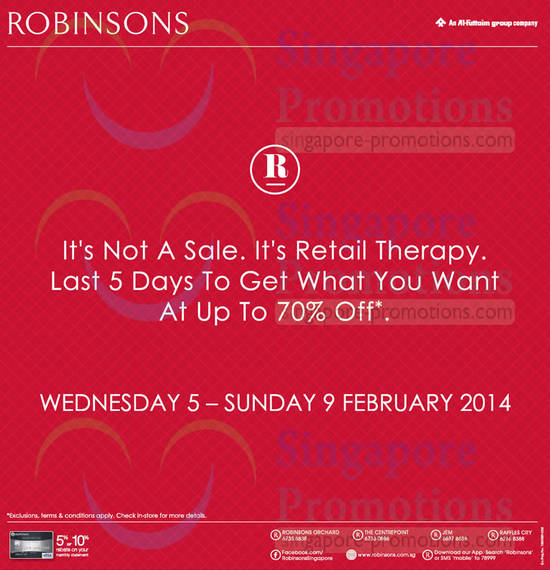 Robinsons Last 5 Days