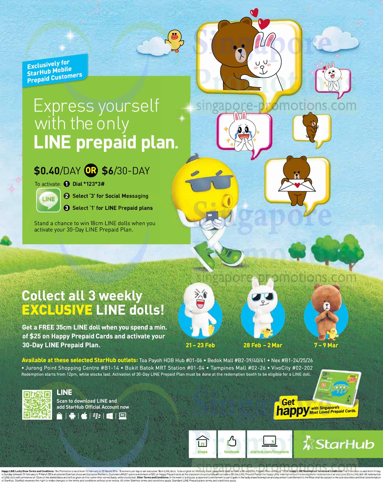 Starhub LINE Prepaid Plan Starhub Smartphones Tablets Cable TV