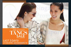 Featured image for Tangs Last 3 Days SALE Promotions & Offers 21 – 23 Feb 2014