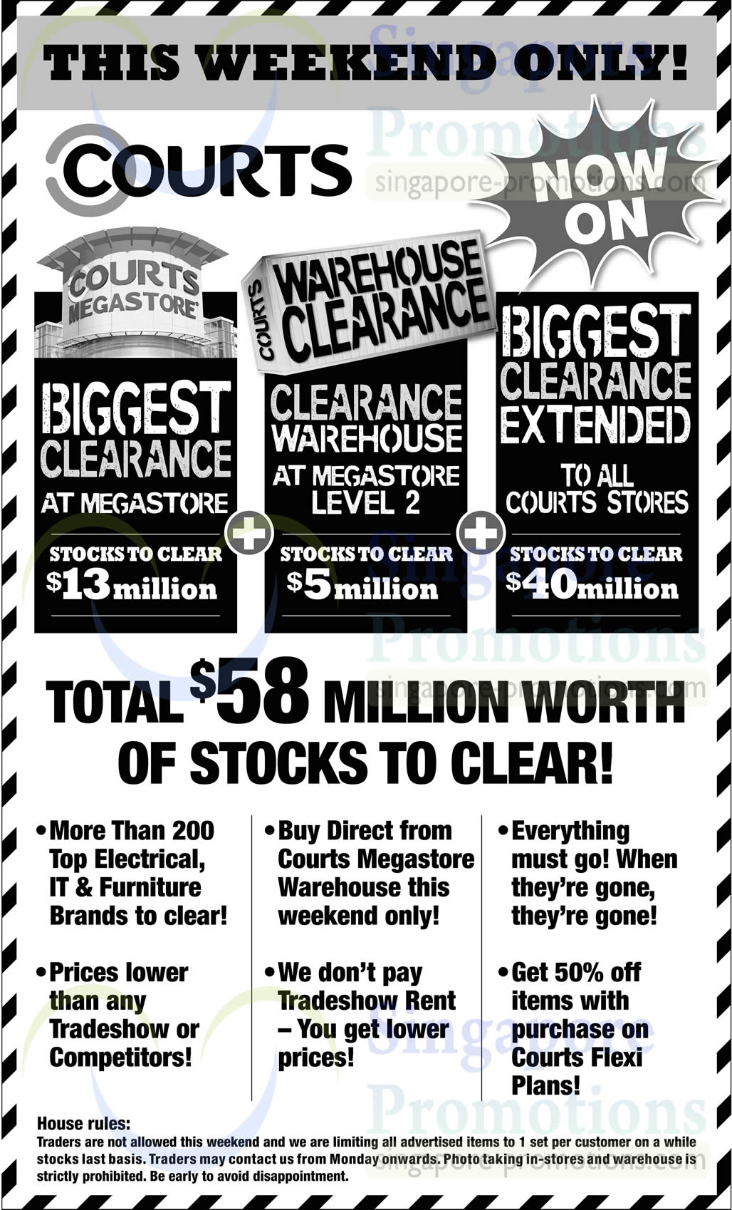Featured image for Courts Biggest Clearance Offers @ All Outlets 15 - 16 Feb 2014