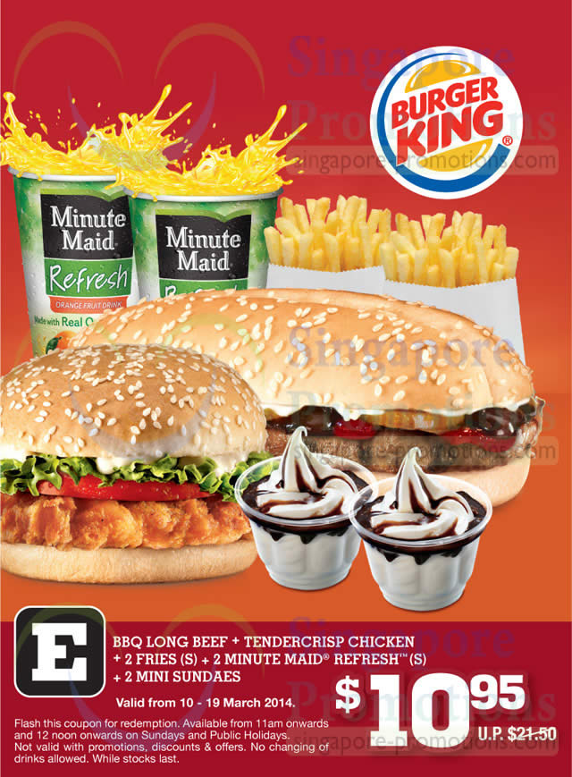 Burger King New Dine In Discount Coupons 10 19 Mar 2014