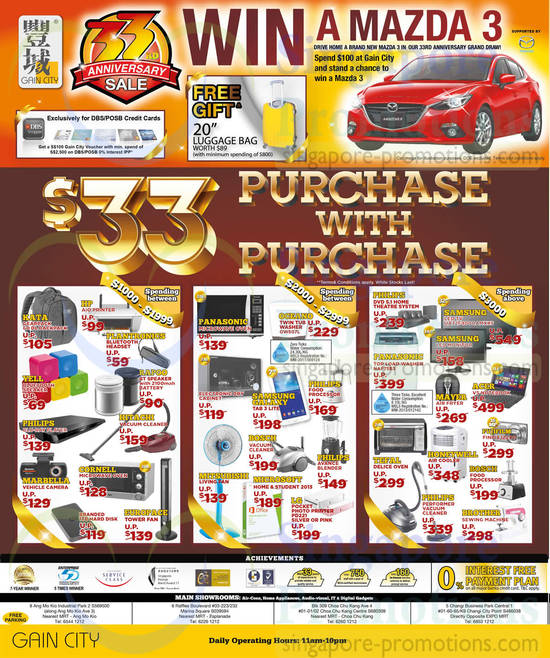 33rd Anniversary Sale, 33 Dollar Purchase with Purchase, Home Appliances